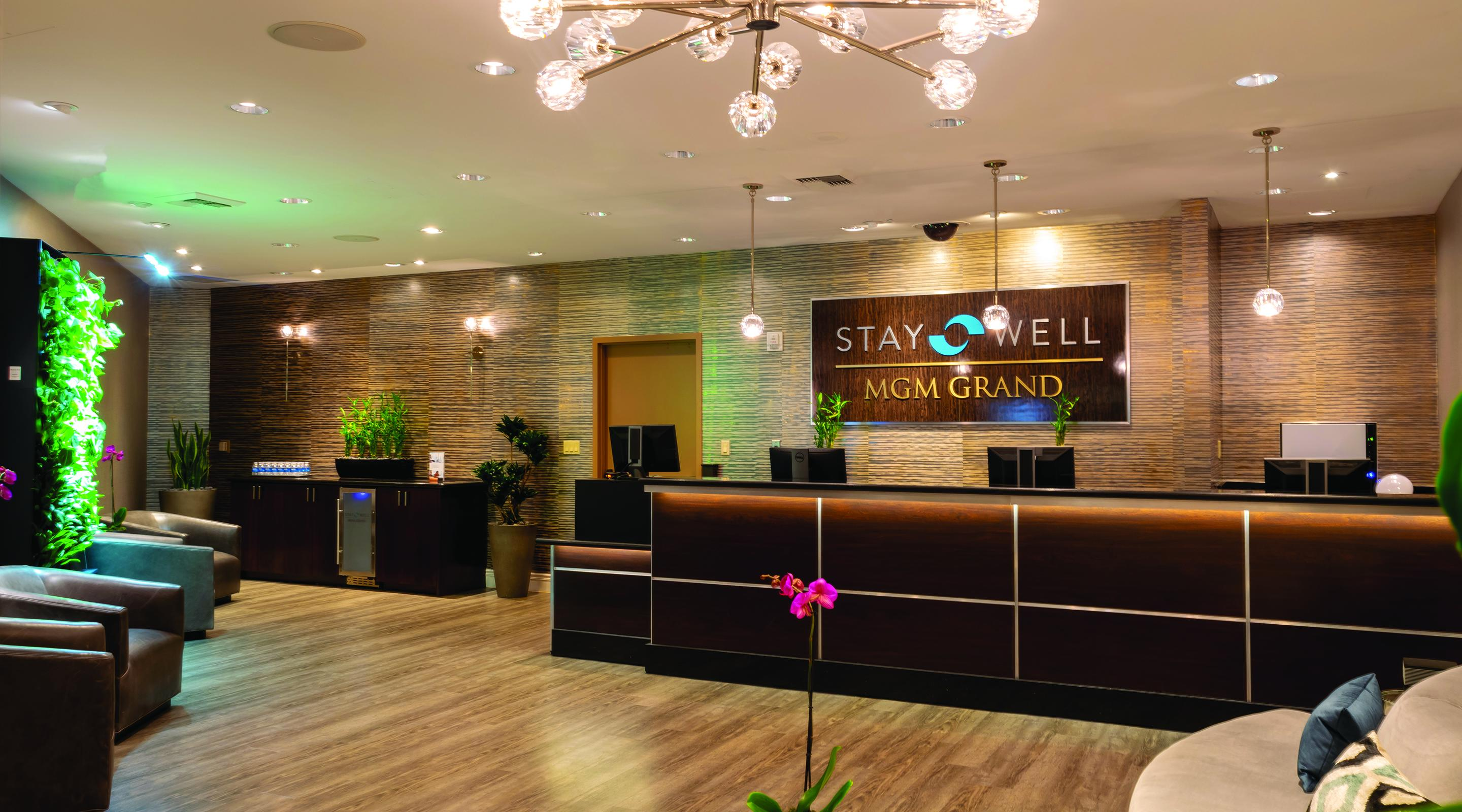 A view of the Stay Well Lounge at MGM Grand.