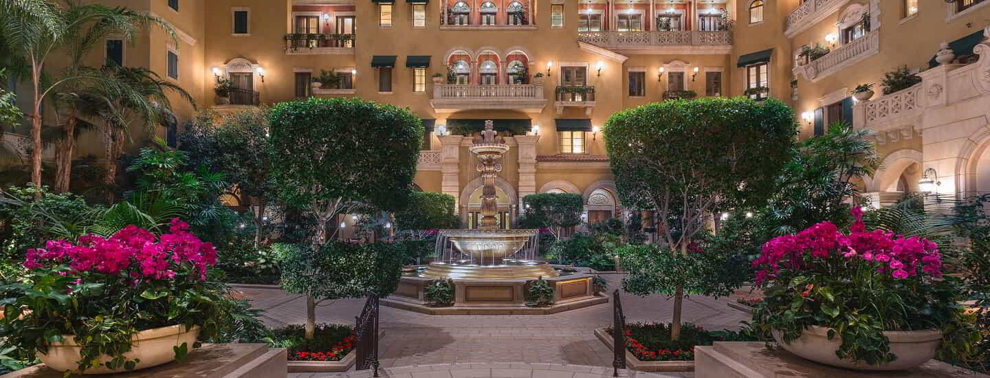 The Mansion Atrium at MGM Grand at Night