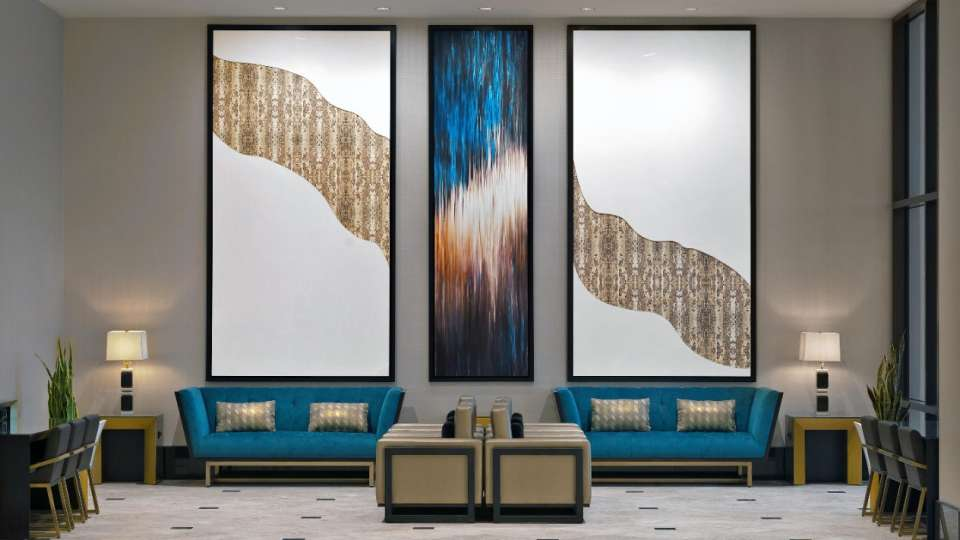 Wall art and furnishings inside MGM Grand Las Vegas Conference Center.