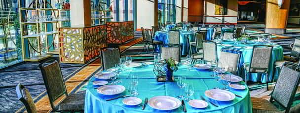 MGM Grand Meeting and Conventions Dining Setup