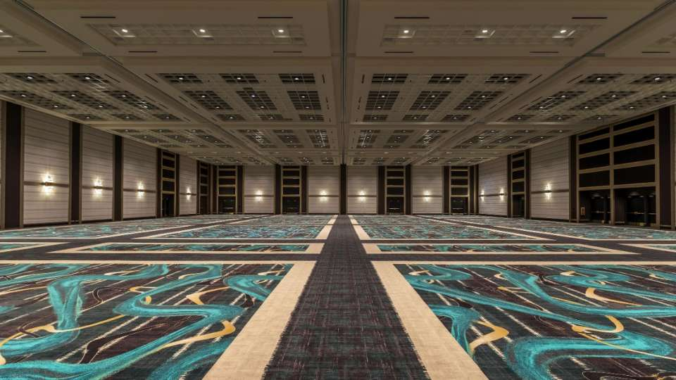 Large open ballroom inside MGM Grand Las Vegas Conference Center.