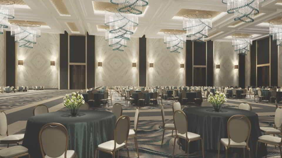 MGM Grand Conference Center Table Setting Rendering.