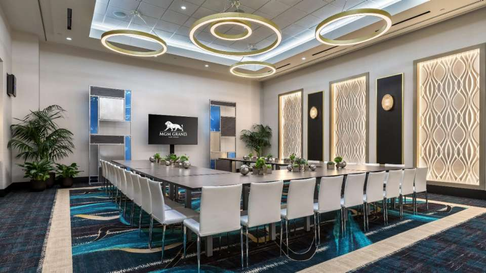 Intimate meeting space at MGM Grand Las Vegas Conference Center.