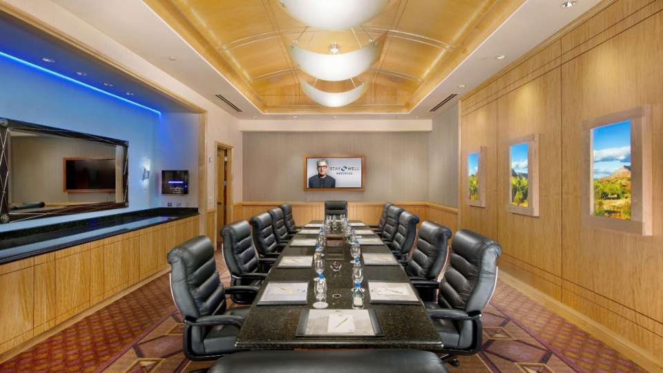 One of the Stay Well influenced meeting rooms inside the Conference Center at MGM Grand