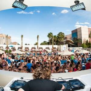 Wet Republic resident venue Celebrity DJ Tommy Trash performing