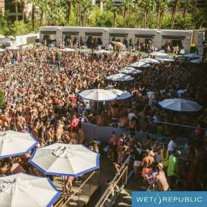 Wet Republic Aerial Shot of People Partying in the Pool