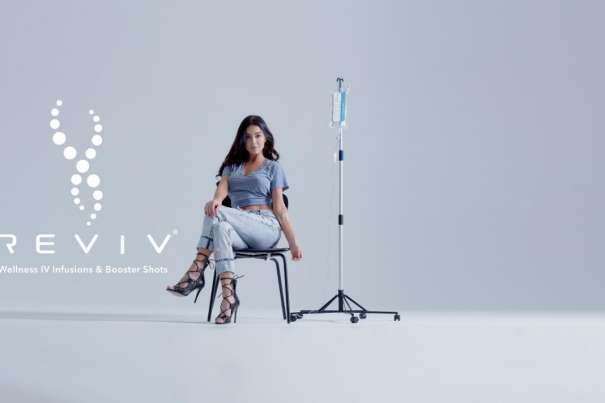 Woman Receiving IV Infusion at REVIV Wellness at MGM Grand