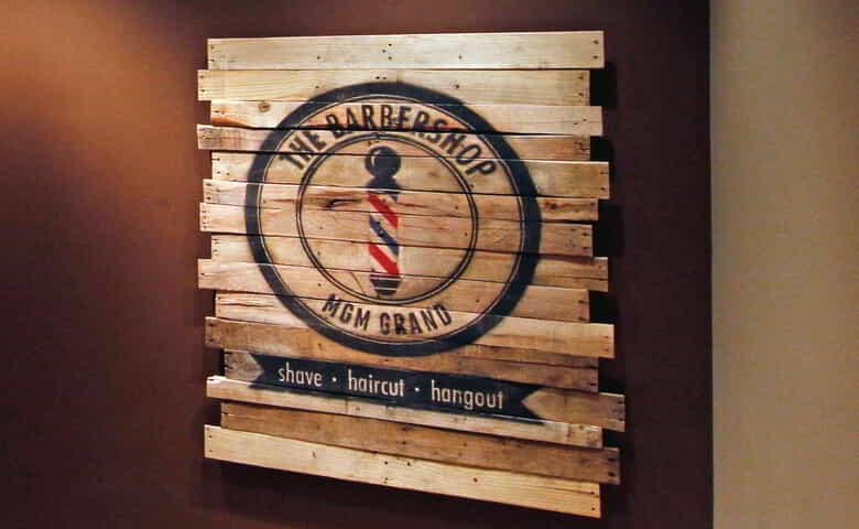 The Barbershop at MGM Grand Sign