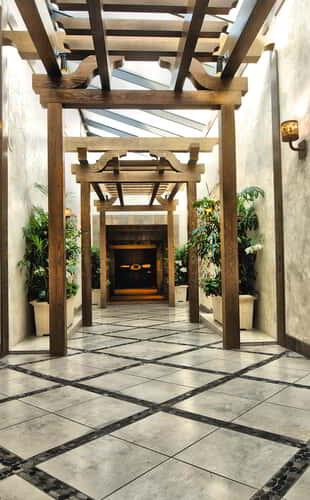 The Entrance to the Grand Spa