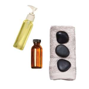 Image of spa and massage products from Grand Spa and Salon.