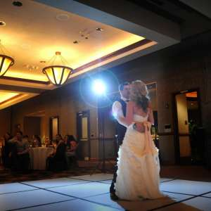 Bride and Groom dancing at their wedding in one of the ballrooms at MGM Grand