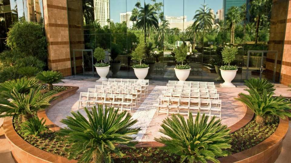 Set-up image of the Terraza as a wedding venue