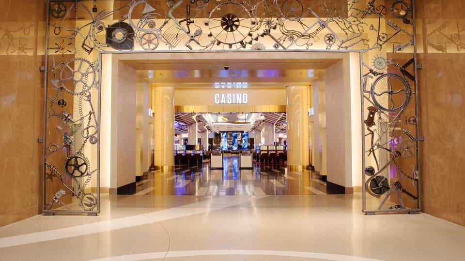 The gateway to the casino was created by Nobel Prize winner and legendary musician Bob Dylan.