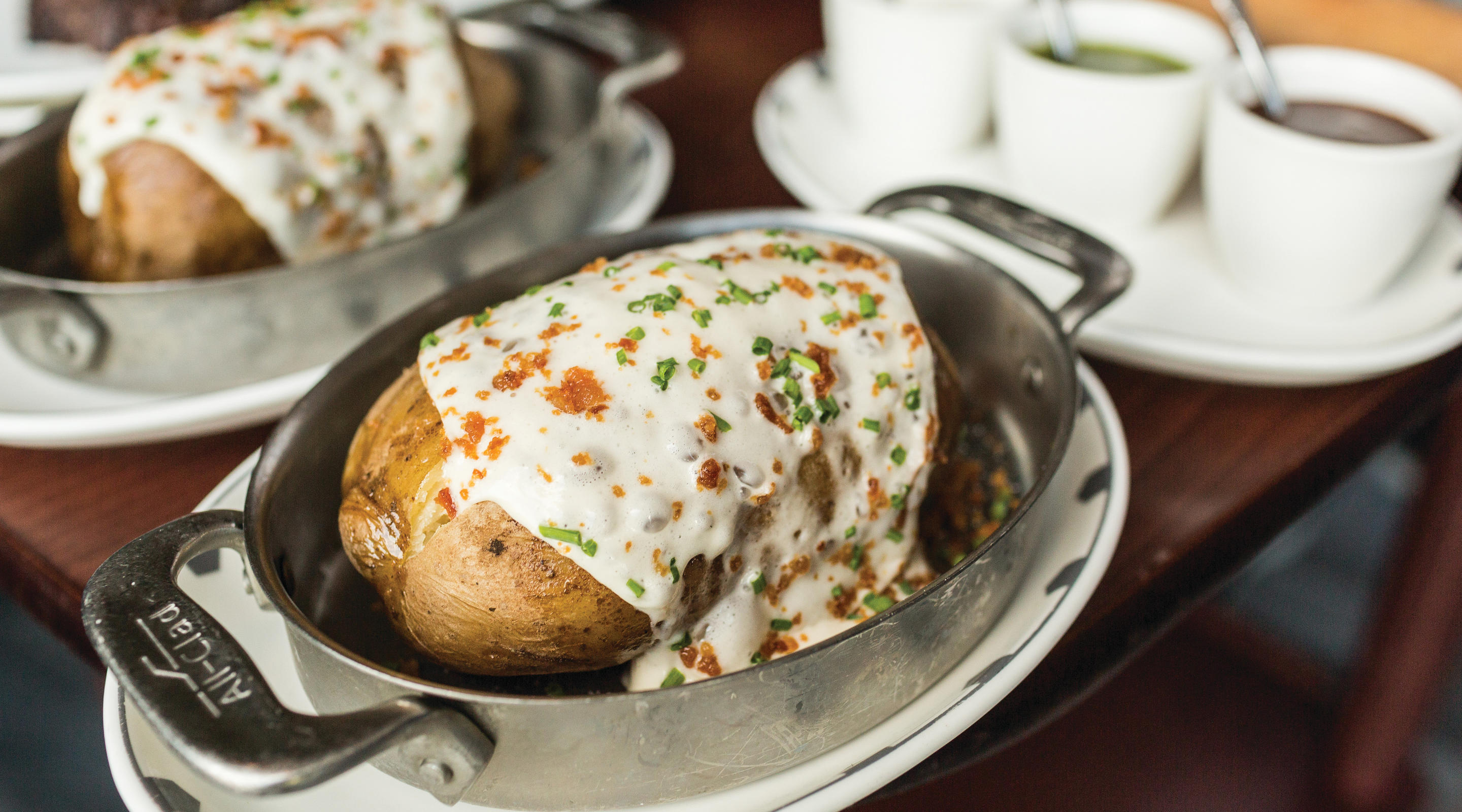 Loaded baked potato side dish from Voltaggio Brothers.