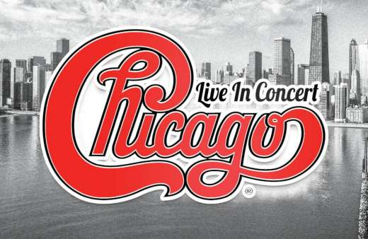 Logo graphic reading Chicago, Live in Concert.