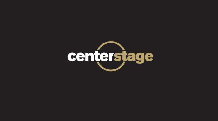 Logo for Center Stage on matte black