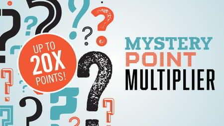Mystery Point Multiplier 20x Promotional Graphic