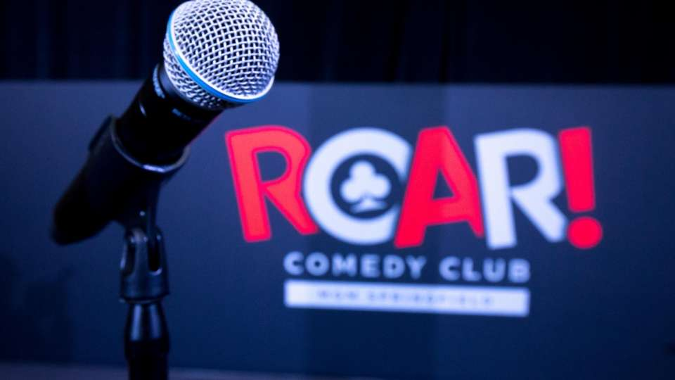 The side of the stage from the ROAR comedian's point of view.