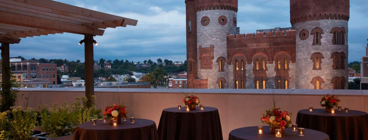 Rooftop Terrace over looks the historic Armory.