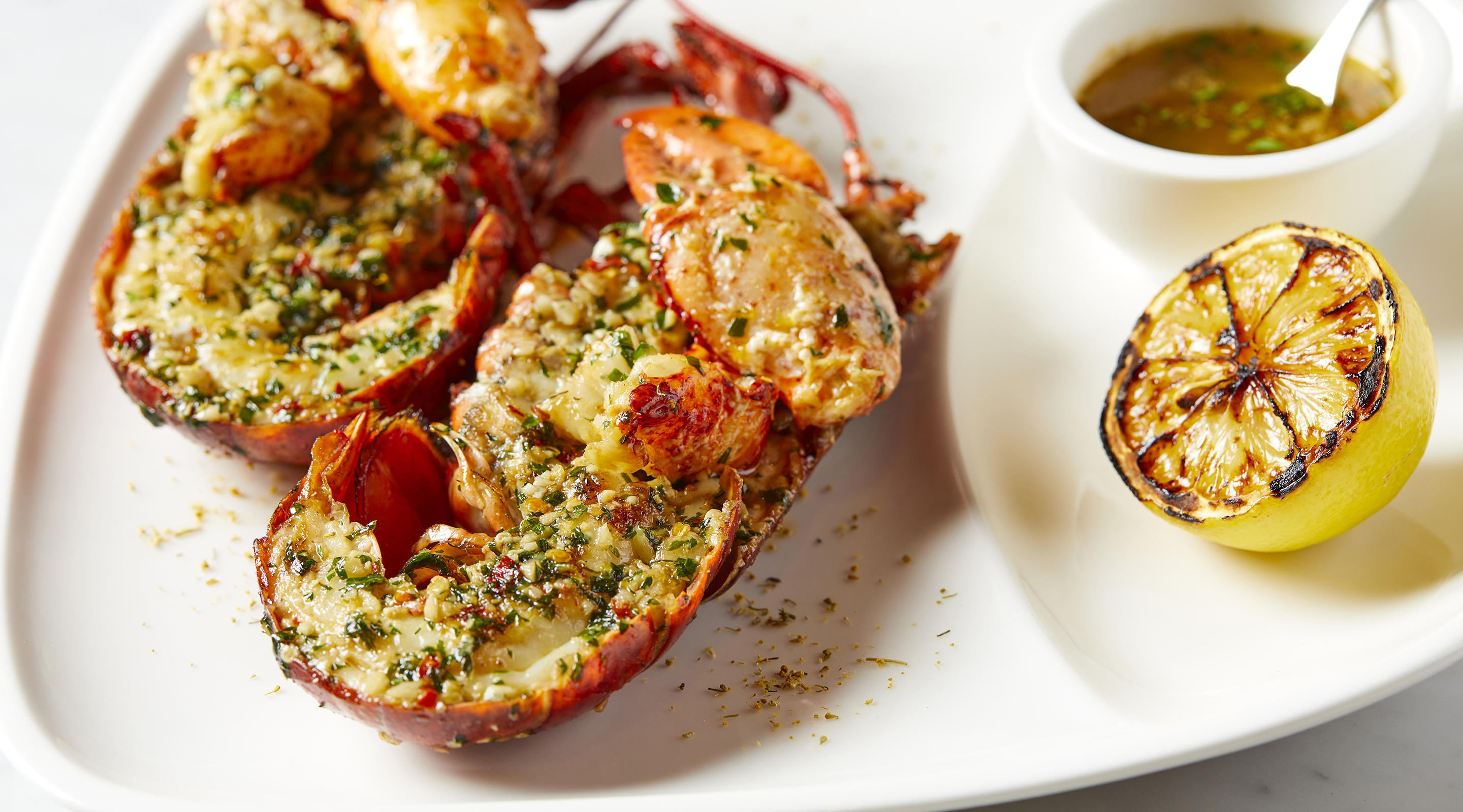 Lobster seasoned to perfection.