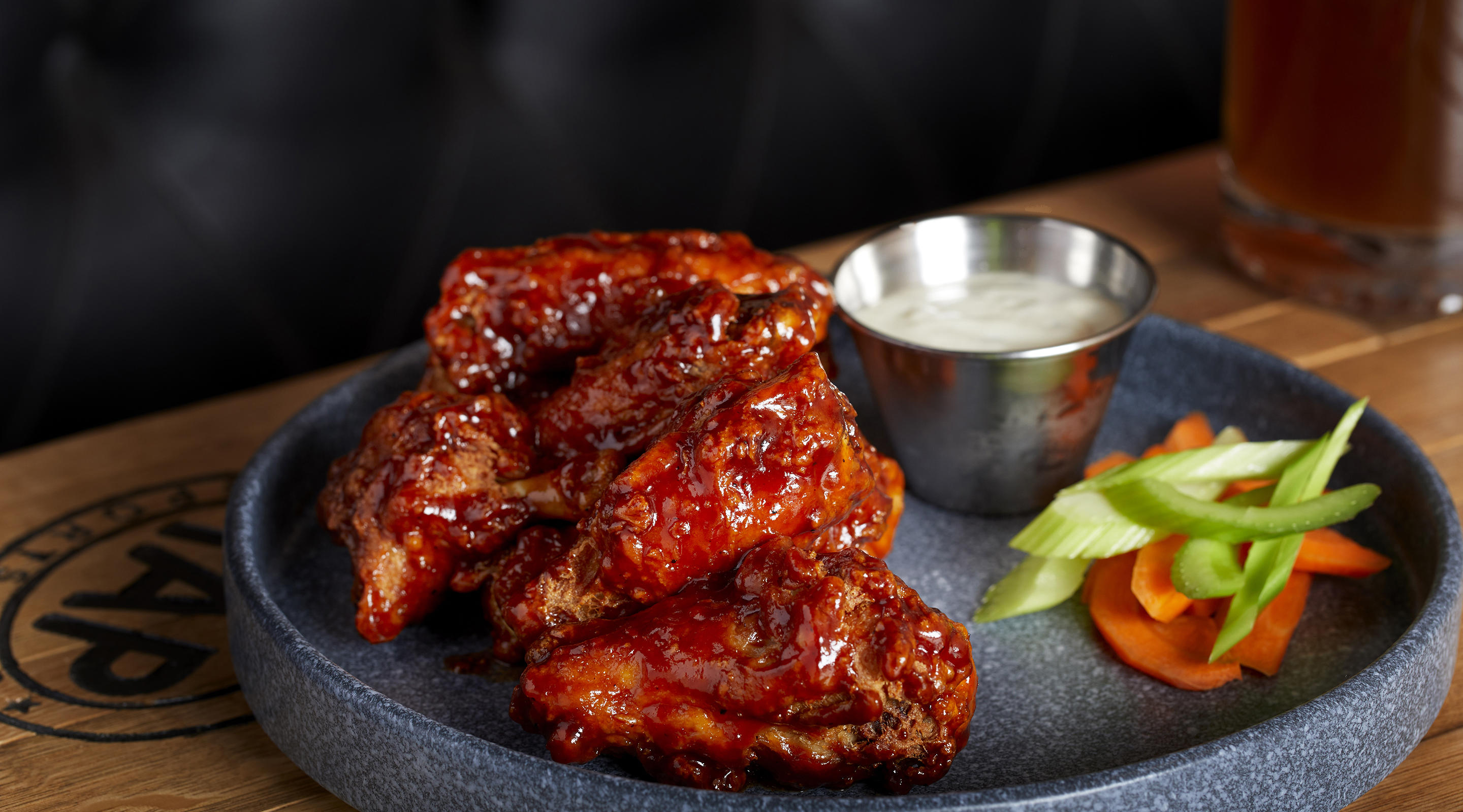 The wings are the perfect bar food snack.