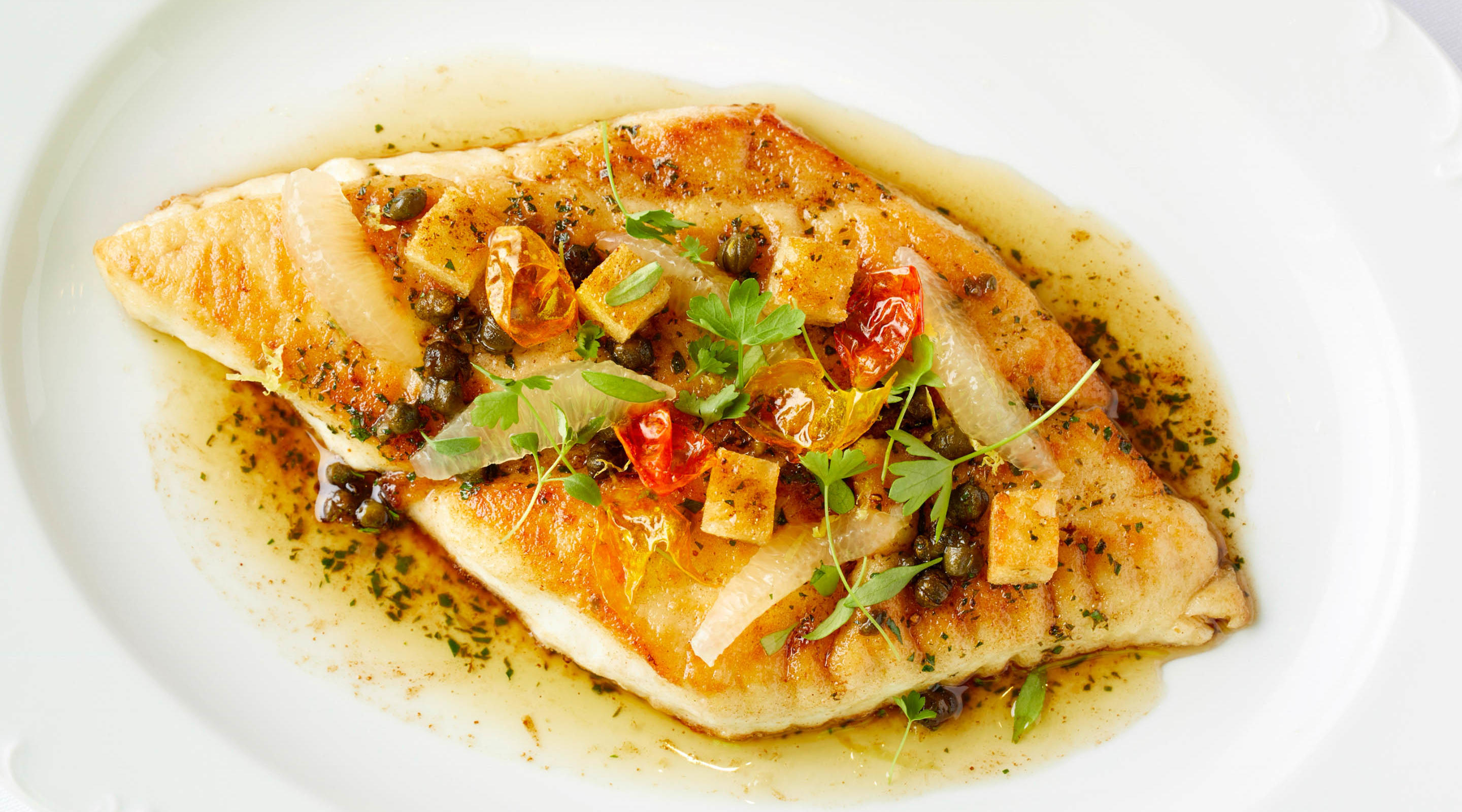 Our seafood options are seasoned just right.