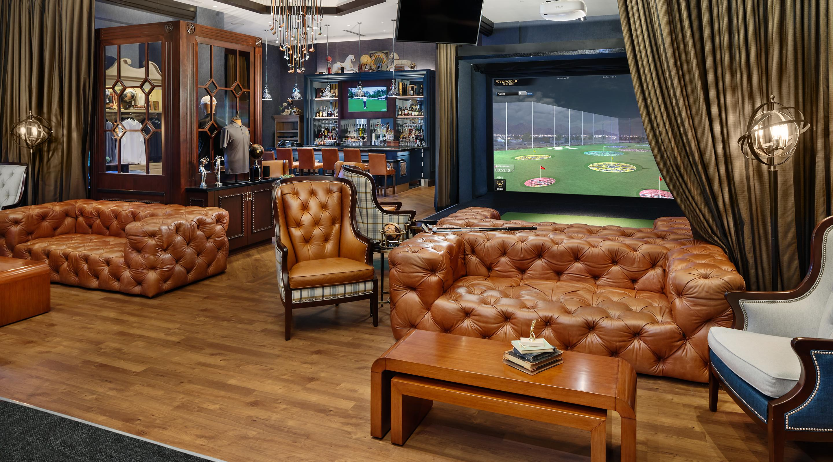 TopGolf Interior Couch.