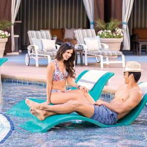 Take it easy by the pool in one of our lounge chairs.