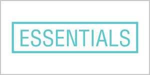 The logo for Essentials retail shop