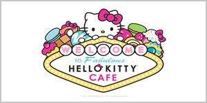 The logo for Hello Kitty Cafe retail shops