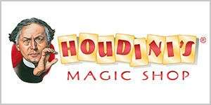 The logo for Houdinis Magic Shop.
