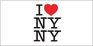 This is a logo for I Heart NYNY retail shop.