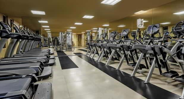 The interior of NYNY fitness room.