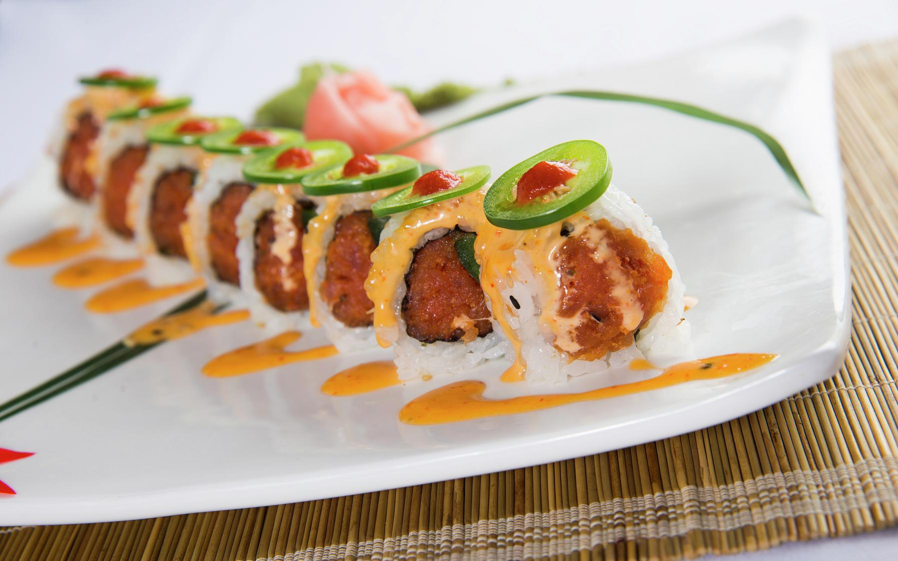 Chin Chin Café & Sushi Bar offers traditional Chinese food, sushi and pan-Asian specialties in a bright and colorful setting.