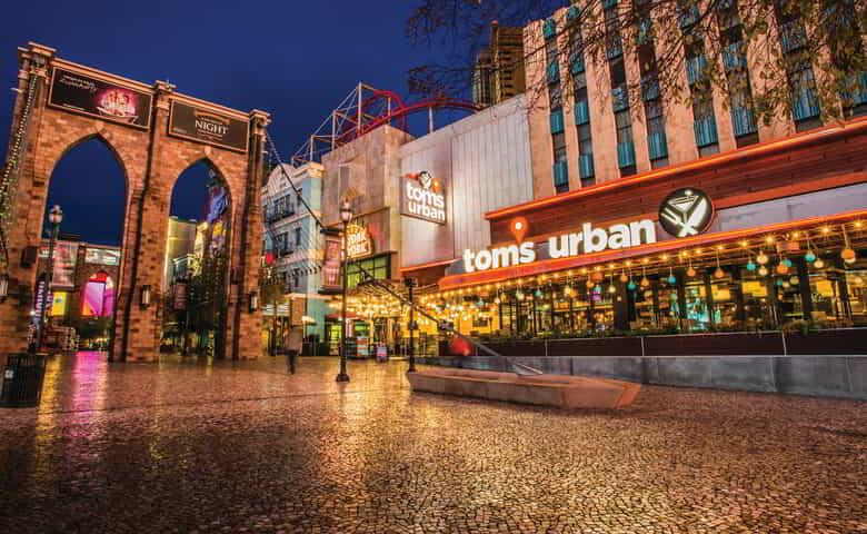 A view of Tom's Urban from the outside.