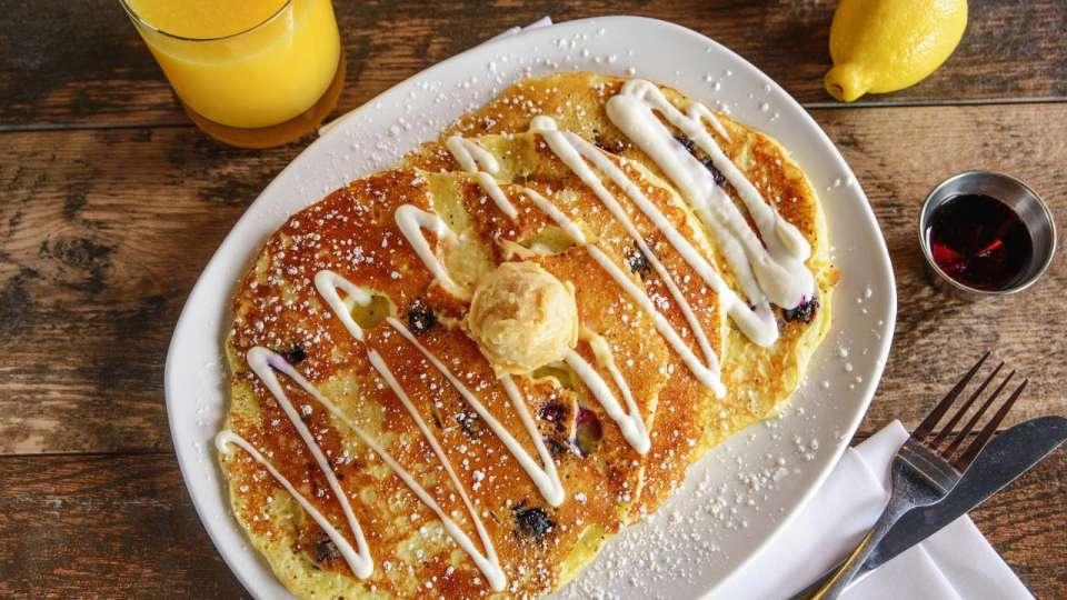 Lemon Poppy Seed Blueberry Pancakes