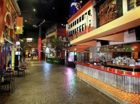 Village Street Eateries inside New York casino in Last Vegas
