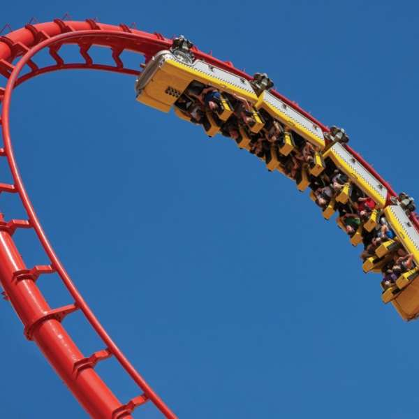 "Get your thrills on the world's first coaster to feature a 180-degree ""heartline"" twist and dive maneuver, providing more than 1.4 million riders with heart-stopping action and excitement each year."
