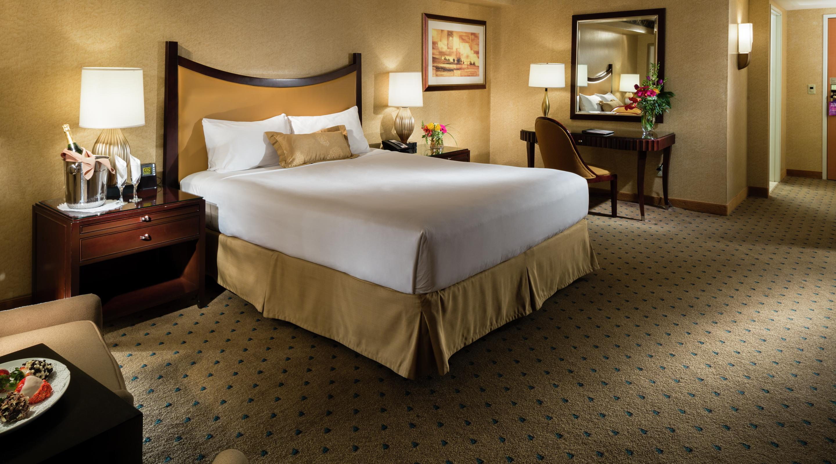 Enjoy all the comfort and conveniences of the  newly upgraded  Madison Avenue King Room set for all your business or pleasure needs.