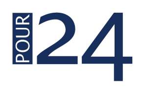 The logo for Pour 24
