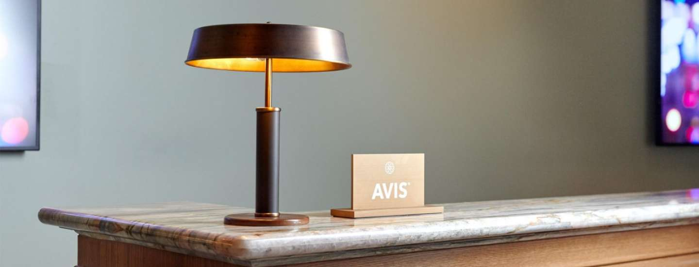 Transportation desk with Avis sign at Park MGM.