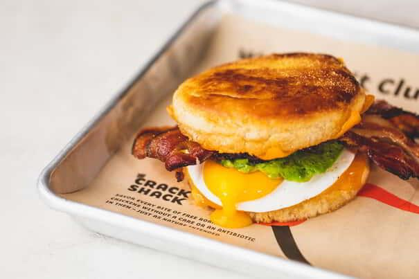 BAE, with bacon avocado and a sunny side egg, is available at The Crack Shack Las Vegas.