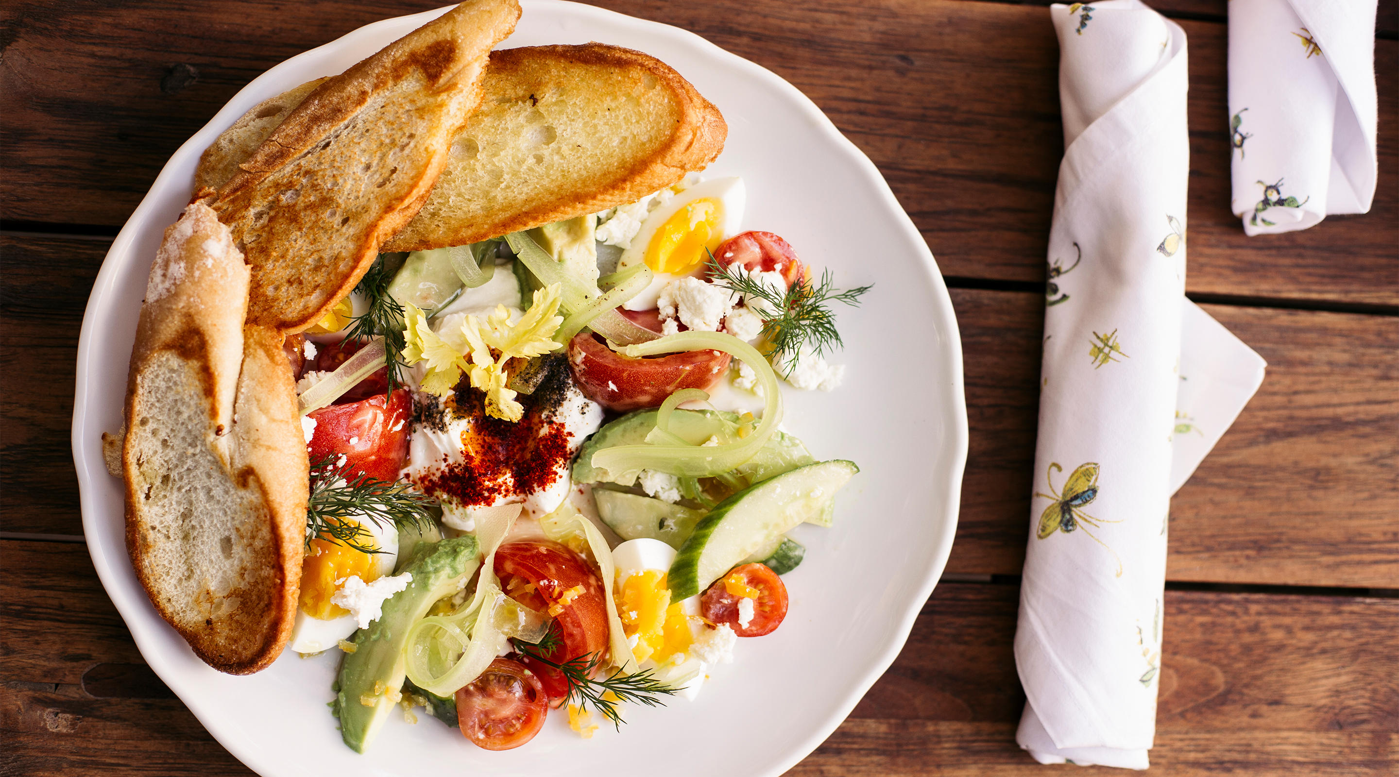 The Mediterranean plate makes for the perfect light lunch.