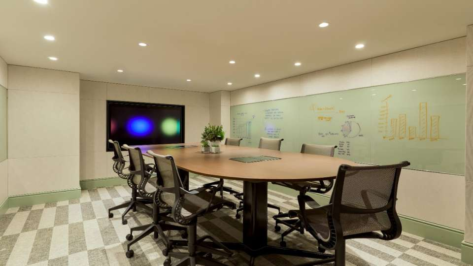 Conference room in Ideation Studio.