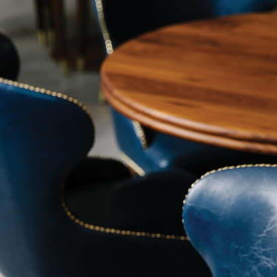 Close up of chairs and tables in the Madison Meeting Center.