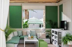 Image of the Park MGM East Pool Cabana interior.