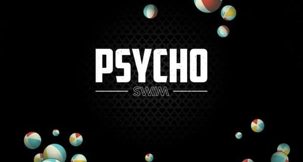 Psycho Swim 2021 logo and beach ball graphic.