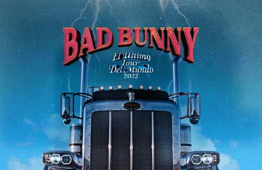 Tour image for Bad Bunny's 2022 tour at MGM Grand Garde Arena