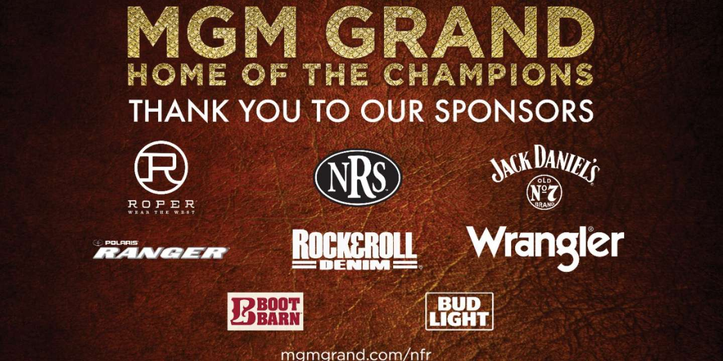 Thanking sponsors of NFR at MGM Grand.