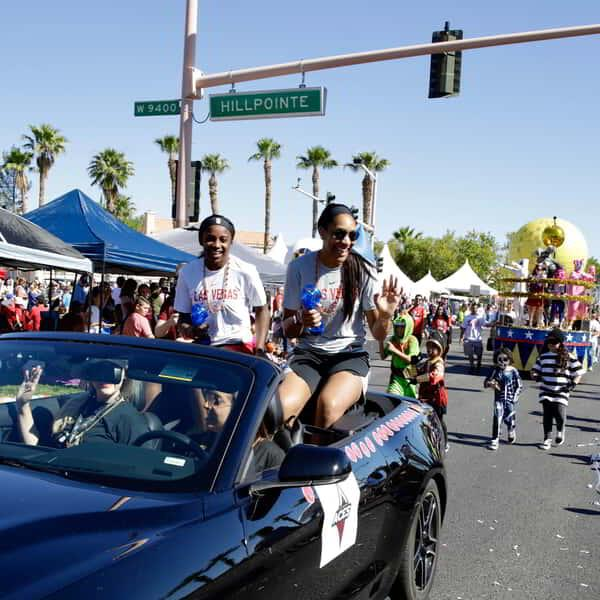 Las Vegas Aces at Summerlin's Fourth of July Parade.